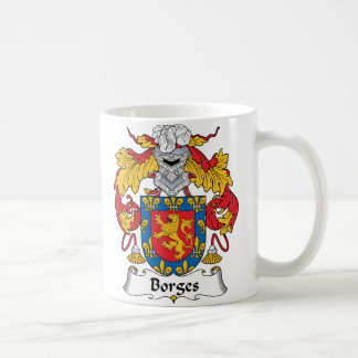 Borges Family Crest Classic White Coffee Mug