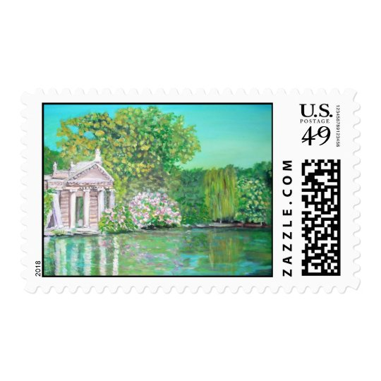 Borghese Park, Rome Painting Postage