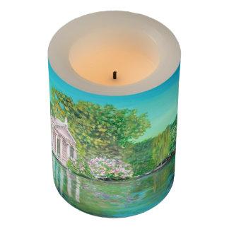 """Borghese, Wrapped LED Candle, 3"""" x 4"""" LED Candle"""