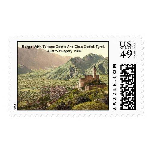 Borgo con el castillo Austro-Hungría 1905 de Sello