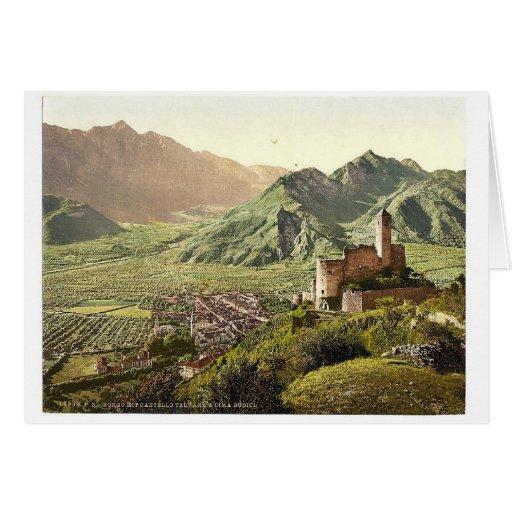 Borgo (es decir, Borgo Valsugana) con el castillo  Tarjeta