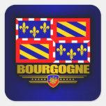 Borgoña Calcomanía Cuadradas