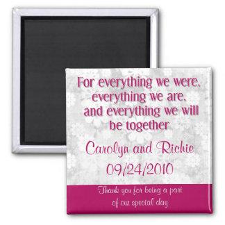 Borgoña, Carolyn y Richie, 09/24/2010, agradecen… Imán Cuadrado