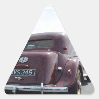 Borgoña clásica Citroen Pegatina Triangular