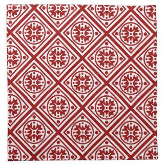 Borgoña/modelo blanco de la teja servilletas