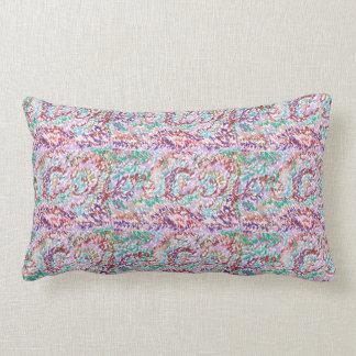 Borgoña, rosa, púrpura, verde de mar, almohada