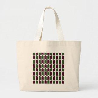 Borgoña y cerca verde del panel bolsas