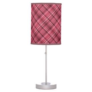 Borgoña y rayas carmesís lámpara de escritorio