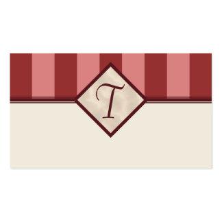 Borgoña y tarjetas rosadas del registro de regalos plantillas de tarjetas personales
