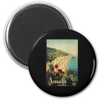 Borgoni Amalfi Campania Italy 2 Inch Round Magnet
