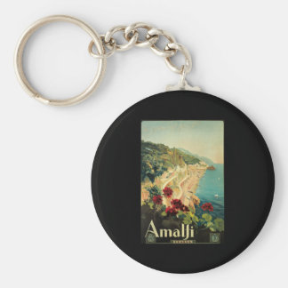 Borgoni Amalfi Campania Italy Basic Round Button Keychain