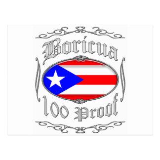 Boricua 100 Proof2 Postcard