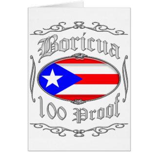 Boricua 100 Proof2 Tarjeta De Felicitación