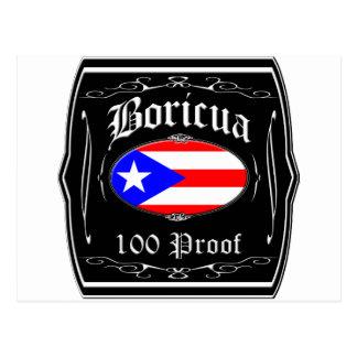 Boricua 100 Proof Post Cards