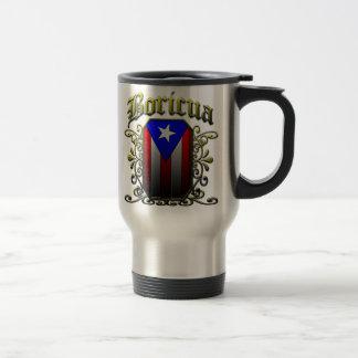 Boricua 15 Oz Stainless Steel Travel Mug