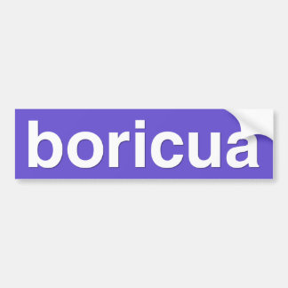 boricua etiqueta de parachoque