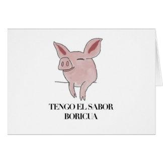 Boricua del sabor de Tengo Tarjeta De Felicitación