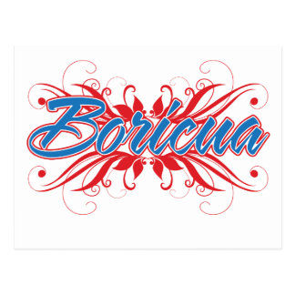 Boricua Floral Postcard
