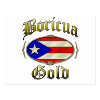 Boricua Gold Postcard