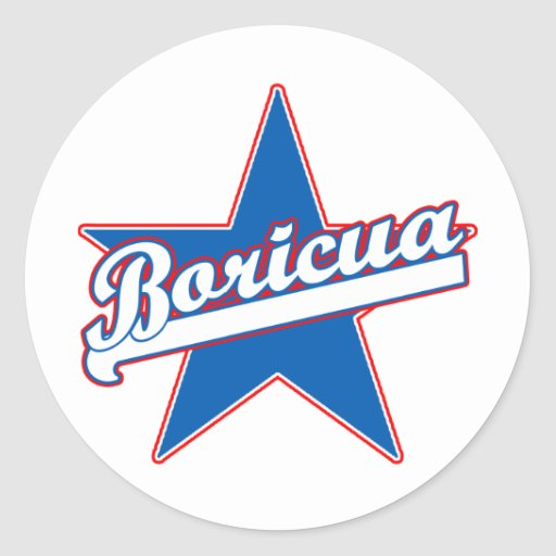 Boricua Products and T shirts Round Stickers