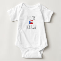 Boricua: Puerto Rico Flag Baby Bodysuit