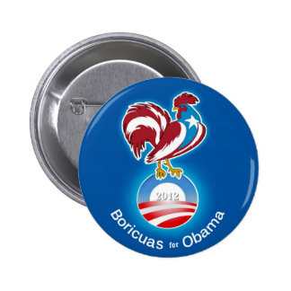 Boricuas for Obama 2012 Buttons
