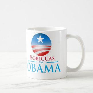 Boricuas para Obama Tazas