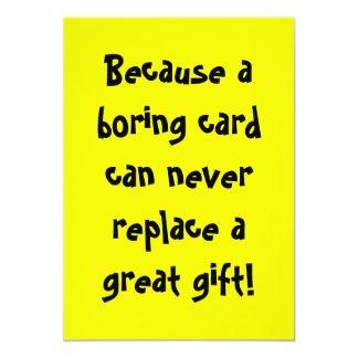Boring Card