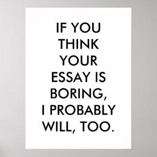 Boring Essay Poster