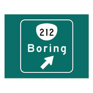 Boring, Road Marker, Oregon, USA Postcard