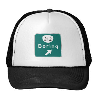 Boring, Road Marker, Oregon, USA Trucker Hat