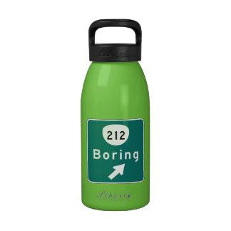 Boring, Road Marker, Oregon, USA Reusable Water Bottles
