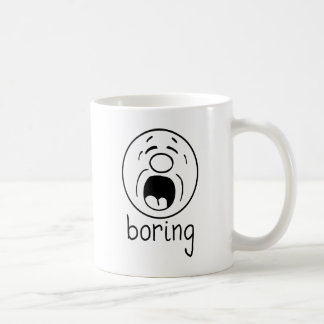 Boring whit coffee mug