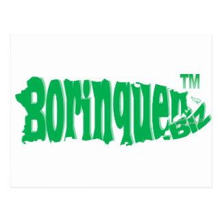 Borinquen Biz green Post Cards