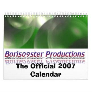 Boris09ster Productions Official 2007 Calendar