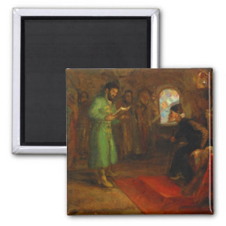 Boris Godunov with Ivan the Terrible 2 Inch Square Magnet