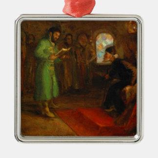 Boris Godunov with Ivan the Terrible Metal Ornament