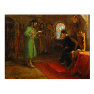 Boris Godunov with Ivan the Terrible Postcard