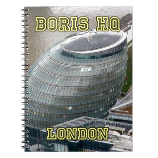 Boris HQ City Hall London Spiral Notebook