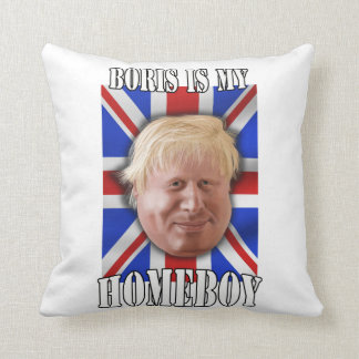 "Boris Johnson ""Boris es alcalde de mi Homeboy"" Cojín"
