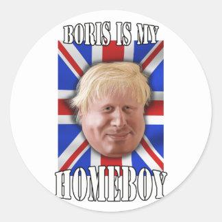 "Boris Johnson, ""Boris is my homeboy"" Mayor Classic Round Sticker"