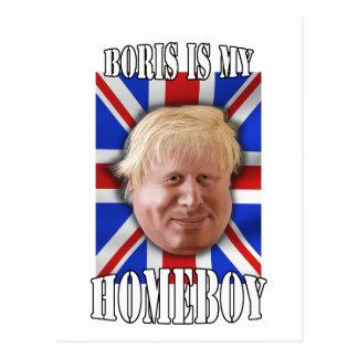 "Boris Johnson, ""Boris is my homeboy"" Mayor Postcard"