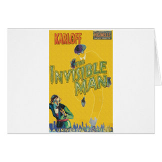 Boris Karloff as The Invisible Man Card