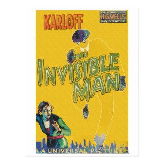 Boris Karloff as The Invisible Man Postcard
