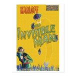 Boris Karloff como el hombre invisible Postal