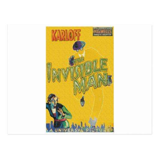 Boris Karloff como el hombre invisible Tarjetas Postales