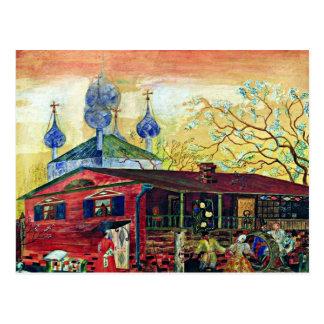 Boris Kustodiev art: Shostakovich Museum of Art Postcard