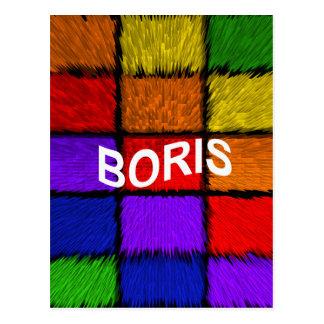 BORIS ( male names ) Postcard