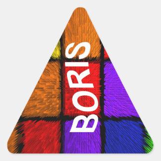 BORIS (nombres masculinos) Pegatina Triangular