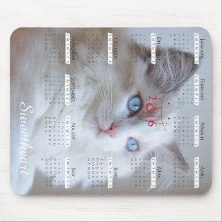 Boris SugarPuffs mousepad with 2016 calendar